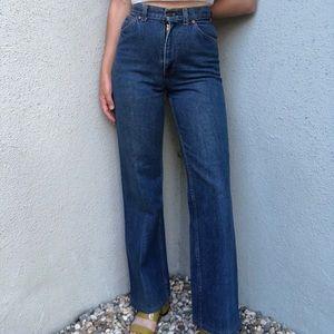 [vintage] 70s Levi's high waist dark wash jeans